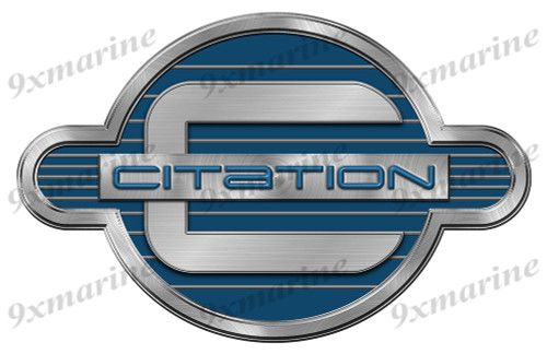 """Citation 80s Remastered Sticker. Brushed Metal Style - 16""""x10"""""""