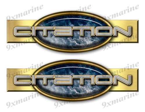 "Two Citation Retro Stickers 10""x3"""