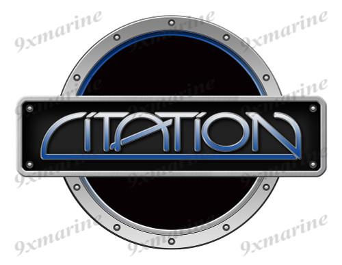 One Black Citation Boat Designer Sticker Remastered