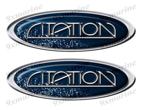 """Two Citation Vinyl Oval Stickers 10"""" long each"""