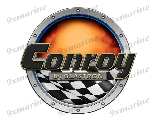 Conroy Racing Boat Round Sticker - Name Plate