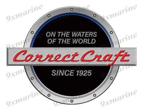 One Black Correct Craft Boat Designer Sticker Remastered