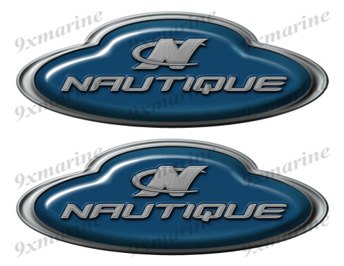 Correct Craft Nautique Boat Oval Sticker set - Name Plate