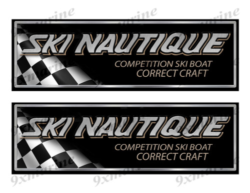 "Correct Craft Ski Nautique Classic Racing 10"" long Stickers"
