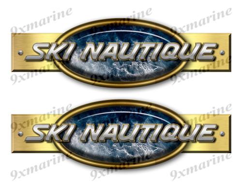 "Two Correct Craft Ski Nautique Retro Stickers 10""x3"""