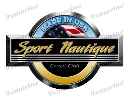 "Single Correct Craft Sport Nautique Round Sticker 10""x6.5"""