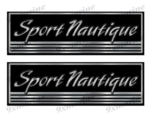 Sport Nautique Custom Stickers - 10 inch long set. Remastered Name Plate