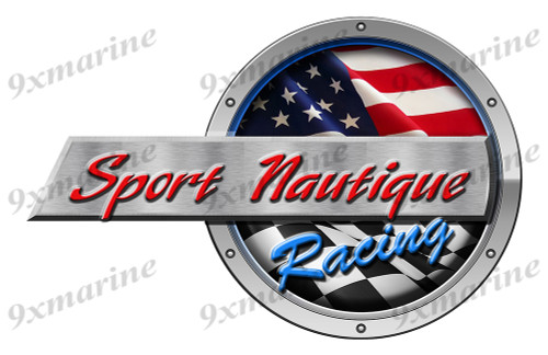"One Sport Nautique Racing Round Sticker 15""x10"""
