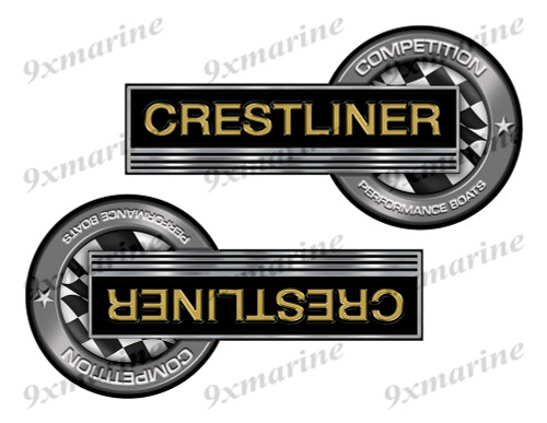 """Crestliner Classic Competition Stickers 8""""x4"""""""