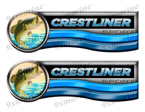 Crestliner Sticker set for Boat Restoration Project