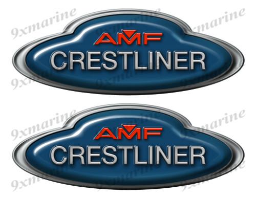 Crestliner AMF Boat Oval Sticker set - Name Plate