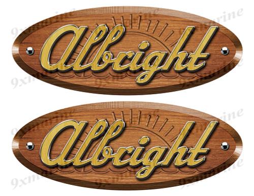 Albright Wood Grain Boat Restoration Sticker set