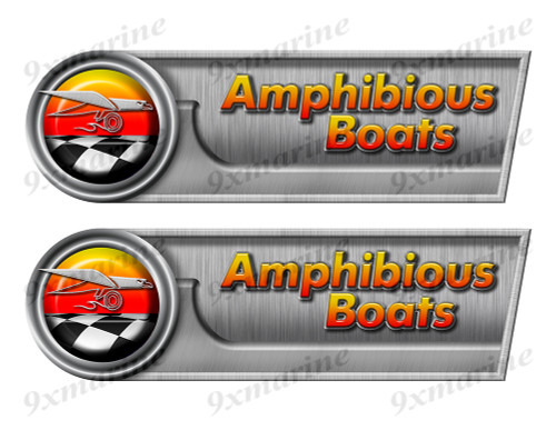 "Amphibious Retro Sticker set - 10""x3"". Remastered Name Plate"