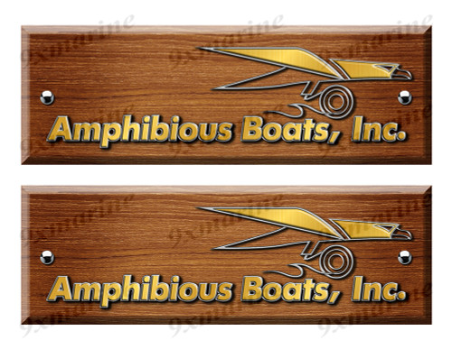 Amphibious Custom Woodgrain Stickers - 10 inch long set. Remastered