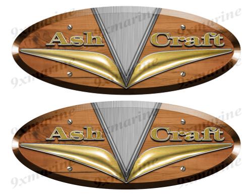 Ash Craft Wood Grain Boat Restoration Sticker set