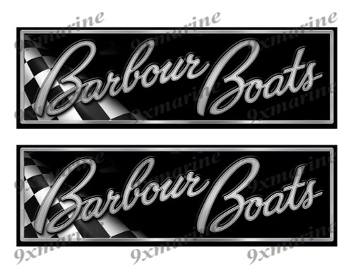 "Barbour Classic Racing 10"" long Stickers"