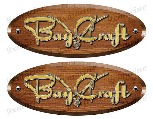 Bay Craft Wood Grain Boat Restoration Sticker set