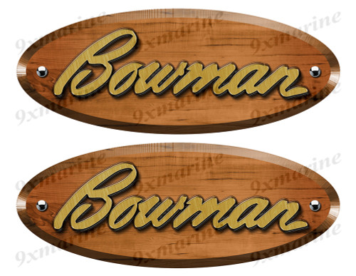 Bowman Wood Grain Boat Restoration Sticker set