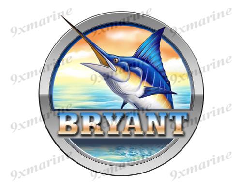 """Bryant Marlin Round Designer Sticker 7.5""""x7.5"""""""