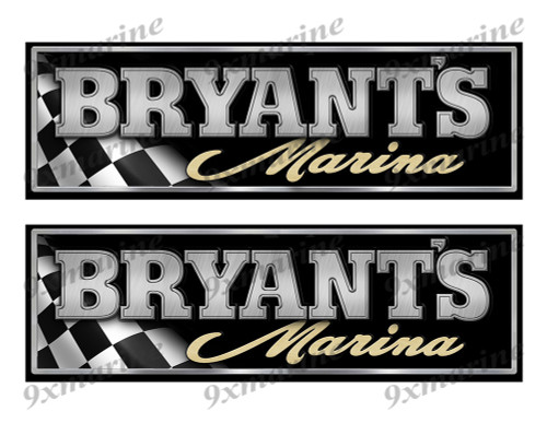 "Bryant Classic Racing 10"" long Stickers"