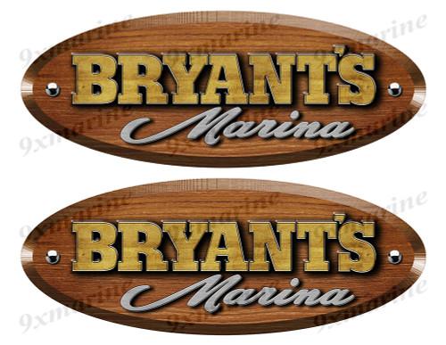 Bryant Wood Grain Boat Restoration Sticker set