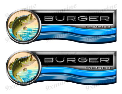 Burger Sticker set for Boat Restoration Project