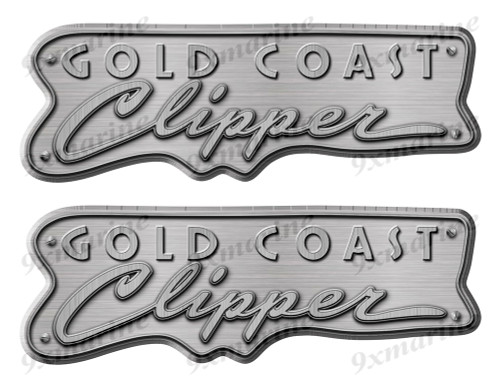 """Clipper boat Stickers """"3D Vinyl Replica"""" of originals - 10"""" long"""