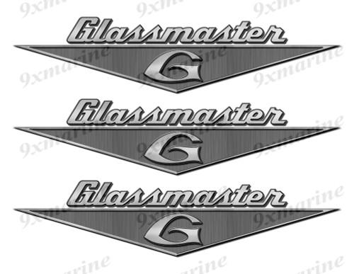 """Glassmaster boat Stickers """"3D Vinyl Replica"""" of originals - 10"""" long"""