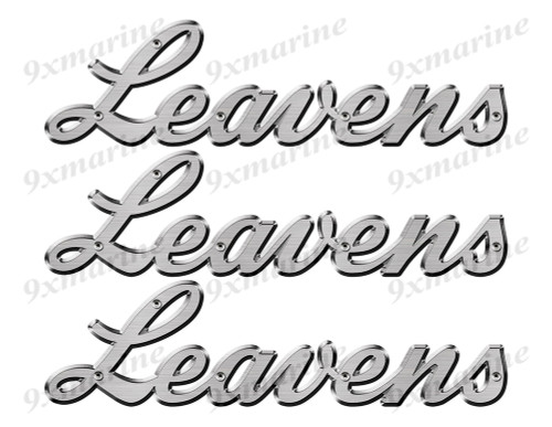 "Leavens boat Stickers ""3D Vinyl Replica"" of originals - 10"" long"