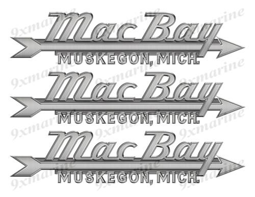 """Mac Bay 50s Stickers """"3D Vinyl Replica"""" of metal originals - 10"""" long"""