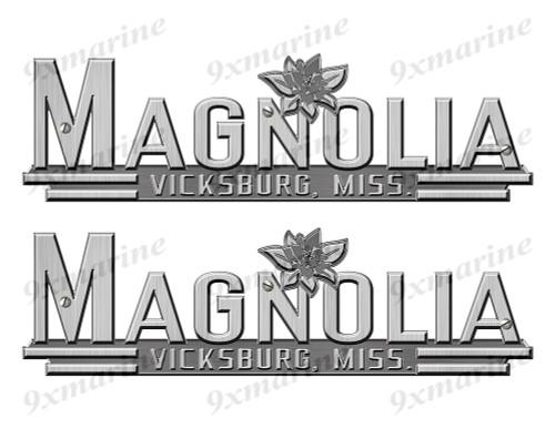"""Magnolia 60s Stickers """"3D Vinyl Replica"""" of metal originals - 10"""" long"""