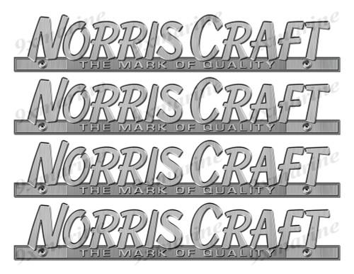 "Norris Craft 60s Stickers ""3D Vinyl Replica"" of originals - 10"" long"