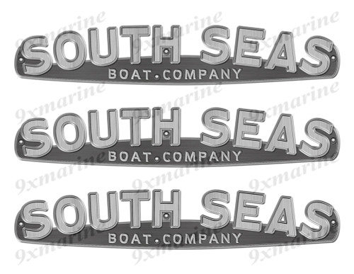 """South Seas boat Stickers """"3D Vinyl Replica"""" of originals - 10"""" long"""