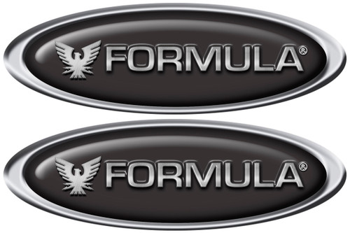 Formula Two Oval Classic Decals 10x3.5 inches each