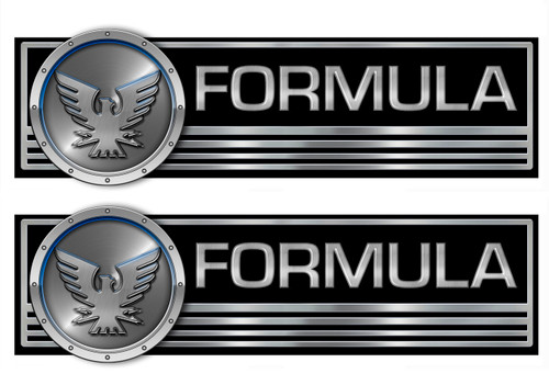 Formula Two Classic Decals 10x3.5 inches each