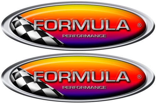 Two Formula Racing Decals 10x3.5 inches each
