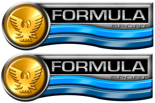 Two Formula Retro Decals 10x3.5 inches each