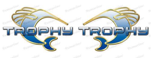 "Bayliner Trophy Sticker set Left/Right - 10""x6.5"" each"