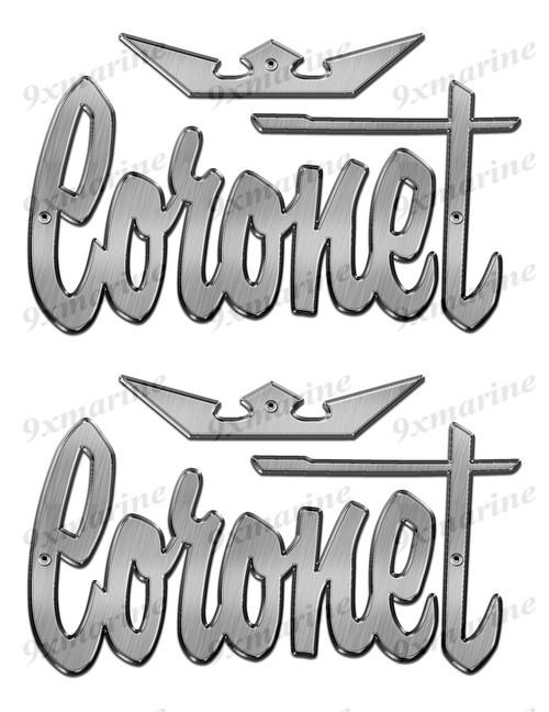 """Coronet Stickers """"3D Vinyl Replica"""" of metal originals"""
