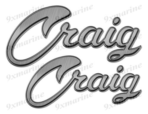 """Craig boat Stickers """"3D Vinyl Replica"""" of originals"""