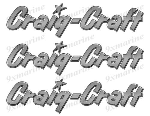 """Craig Craft Stickers """"3D Vinyl Replica"""" of metal originals - 10"""" long"""