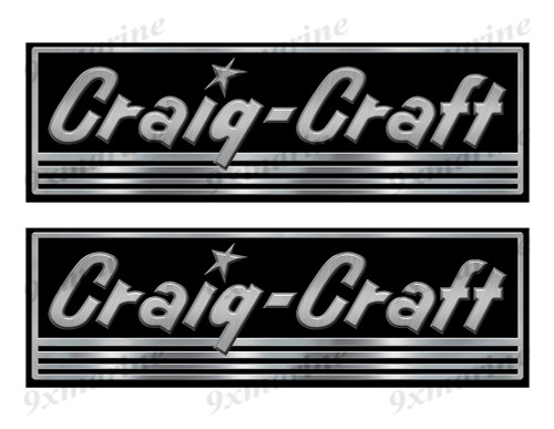 Craig Craft Custom Stickers - 10 inch long set. Remastered Name Plate