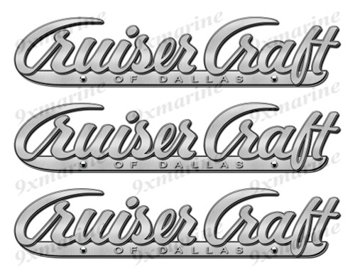 "Cruiser Craft 50s Stickers ""3D Vinyl Replica"" of metal originals - 10"" long"
