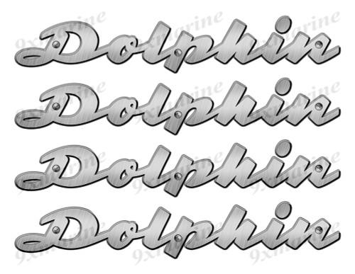 "Dolphin 50s Stickers ""3D Vinyl Replica"" of metal originals - 10"" long"