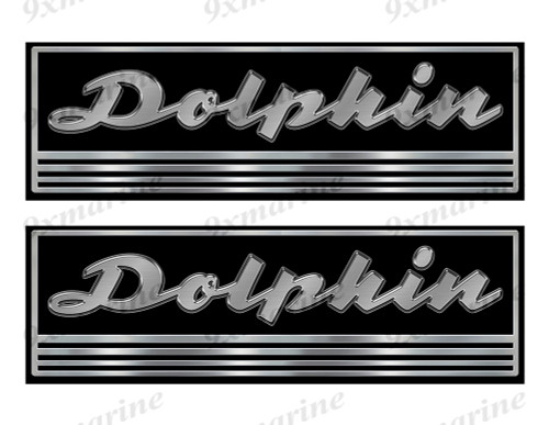 Dolphin Custom Stickers - 10 inch long set. Remastered Name Plate