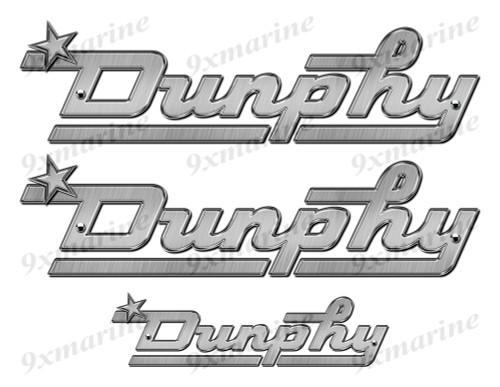 """Dunphy 60s boat Stickers """"3D Vinyl Replica"""" of originals"""