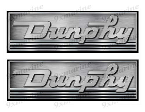 Two Dunphy Vintage Boat Stickers. Not OEM