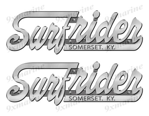 "Surfrider Stickers ""3D Vinyl Replica"" of metal originals - 10"" long"