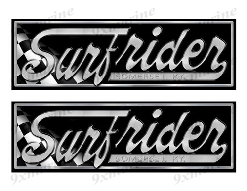 "Two Surfrider Yacht Classic Racing 10"" long Stickers"