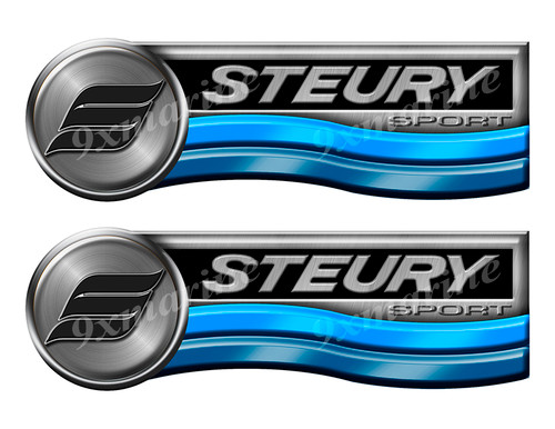 Steury Retro Sticker set for Boat Restoration Project